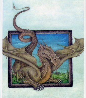 DRAGON EMERGING FROM FRAME