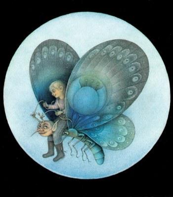 THE BLUE FLOWER BUTTERFLY